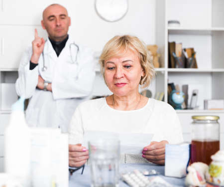 MAture woman and doctor
