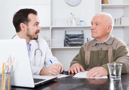 Old man visits doctor
