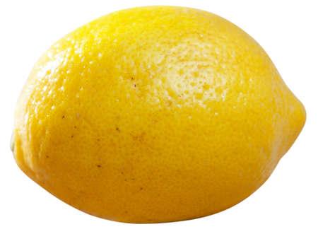 Whole lemon on white background
