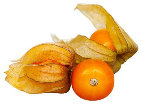 Ripe Peruvian physalis fruits