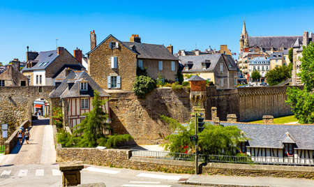 Old city walls and buildings of Vannes