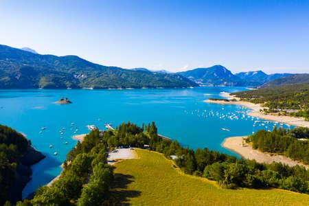 Serre-Poncon Lake. High quality photo