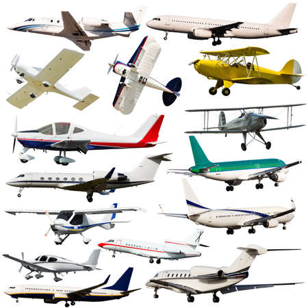 Civil passenger aircrafts isolated