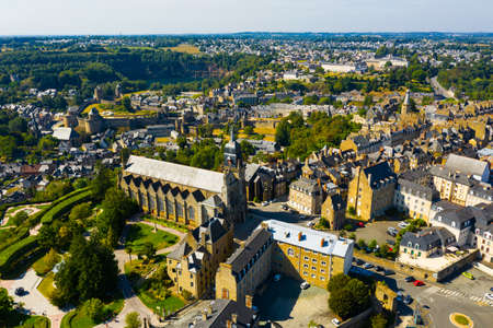 Scenic view of the Fougeres castle. City of Fougeres. France