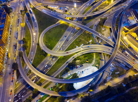 Highway road at night 版權商用圖片
