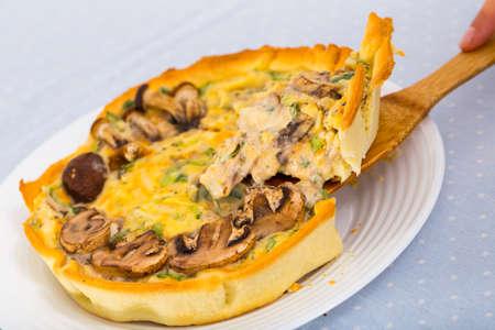 Mushroom pie. High quality photo 스톡 콘텐츠