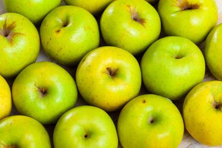 Juicy green apples Stock Photo