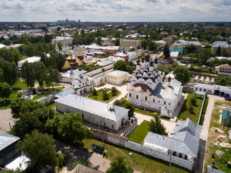 Aerial view of Annunciation Monastery and Holy Trinity Convent in Murom