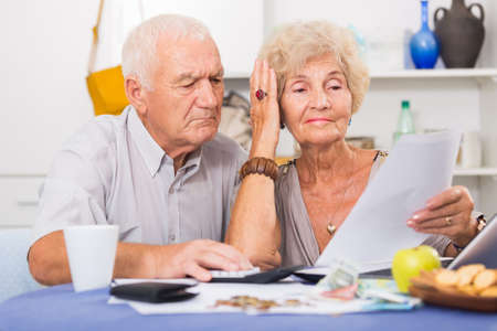 Frustrated senior couple faced financials troubles