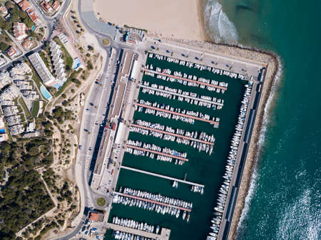 Overview of marina of Torredembarra