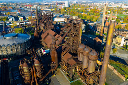 Abandoned Vitkovice steel mill in Ostrava