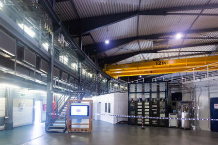 Image of ALBA synchrotron modern building interior indoors Editorial