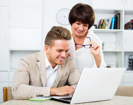 Man tells his mother about new software