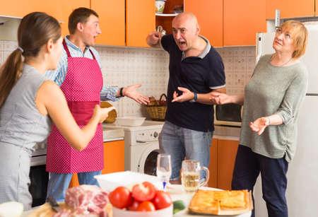 Big family quarrel Banque d'images