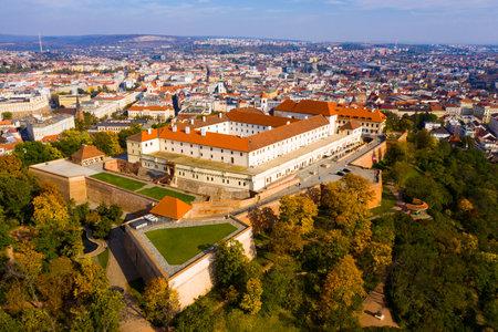 Medieval castle of Spilberkon. City of Brno