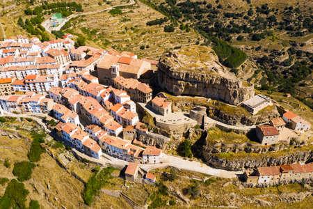 Scenic view of the city of Ares del Maestrat in the Valencia region 版權商用圖片