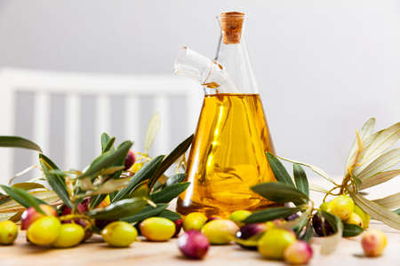 Decanter with olive oil