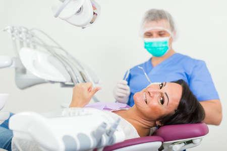dentist professional filling teeth