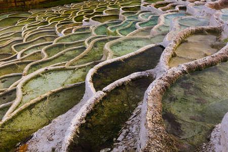 Terraced basins in Egerszalok thermal spring