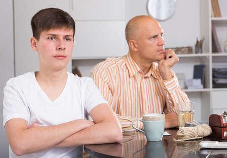 Offended son after quarrel