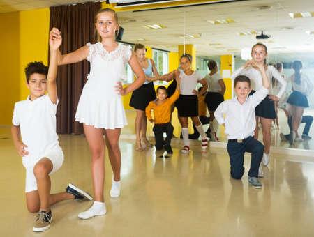 Children enjoying of partner dance