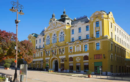 Pecs City Hall in Szechenyi square