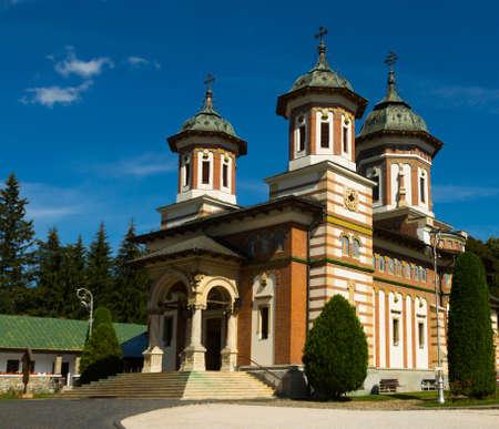 Monastery Sinaia in romanian city Stock Photo