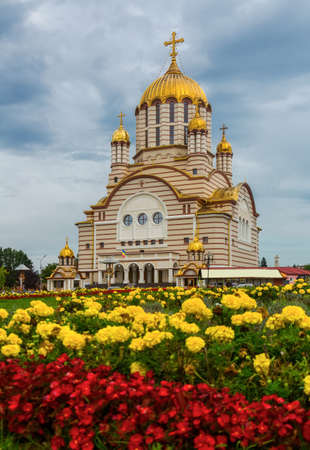 Image of cathedral of St. John the Baptist in Fagaras Stock Photo