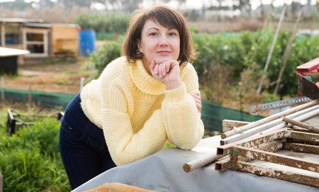 Portrait of thoughtful gardener