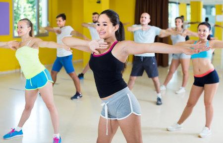 Emotional people performing modern dance Standard-Bild