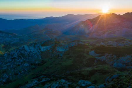 Picos de Europa at sunset, Spain