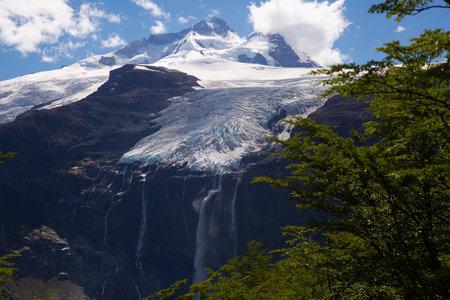 Mountain Tronador and glaciers of Alerce and Castano Overa