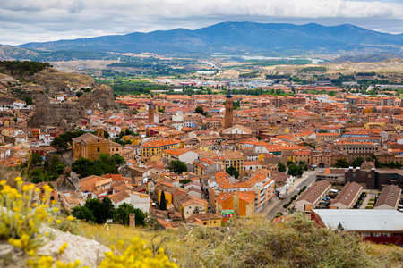 View of Calatayud and buildings at sunny day, Province of Zaragoza