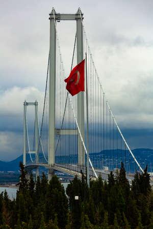 view of Osman Gazi Bridge