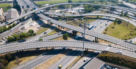 Highway interchange in Barcelona