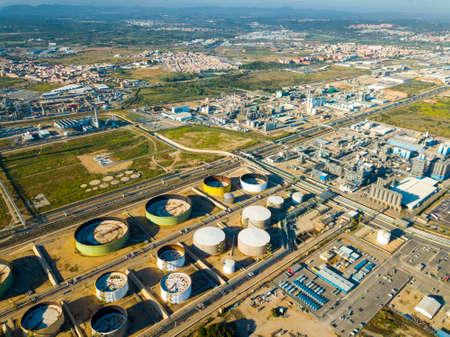 Industrial zone of chemical factory Reklamní fotografie