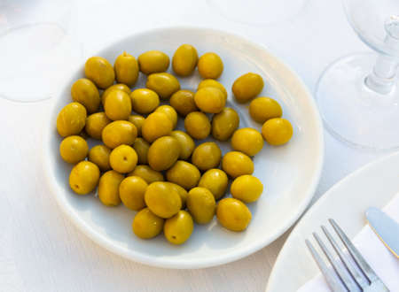 Pitted olives - typical Spanish snack