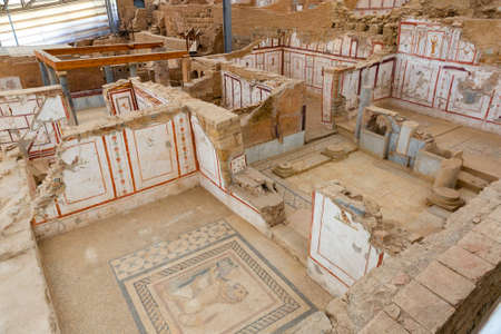 Remained architecture and interior decoration of terrace houses in Ephesus, Turkey Reklamní fotografie