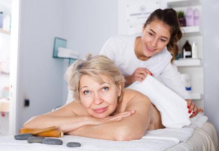 Mature woman having massage
