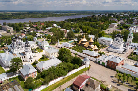 Aerial view of Murom with Trinity convent and Annunciation Monastery