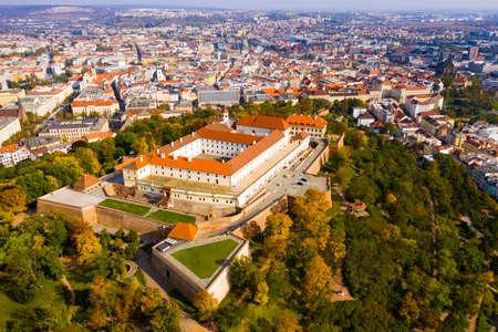 Medieval castle of Spilberkon. City of Brno Stock Photo