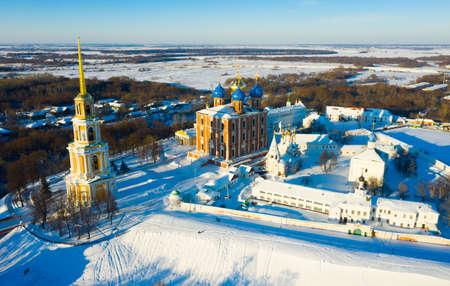 Aerial view of the Kremlin in Ryazan in winter Stock fotó