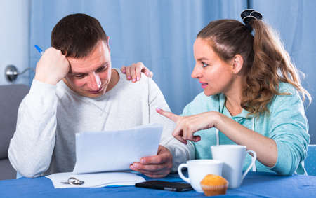 Couple struggling to pay bills