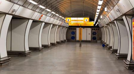 Hloubetin station on Line B of Prague metro Editorial