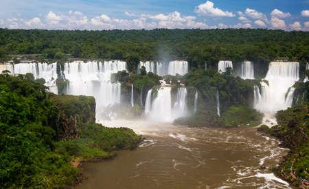 Waterfall Cataratas del Iguazu on Iguazu River, Brazil