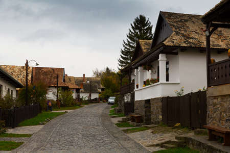 Holloke is traditional village in Hungary Banco de Imagens