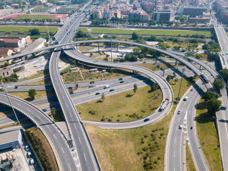 Highway grade separation, Barcelona 版權商用圖片