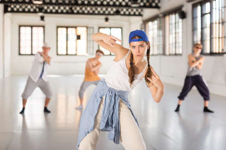 Young people dancing hip-hop
