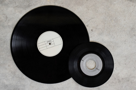 single songs: two old vinyl record