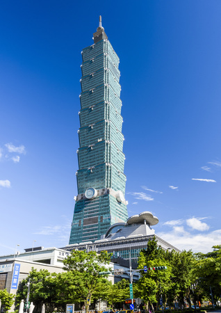 TAIPEI, TAIWAN - Taipei 101 Skyscraper in Taipei, TAIWAN. Editoriali